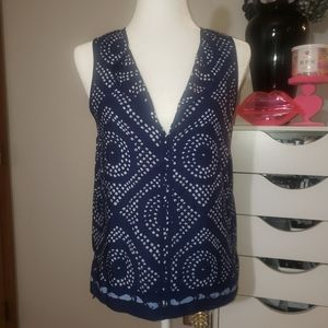 SANCTUARY geometric print shell tank Size S